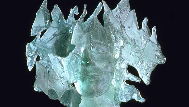 Mari Meszaros, Frozen in Time, Detail, glass melted in form